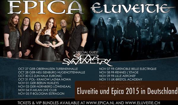 Eluveitie und Epica 2015 in Deutschland