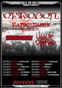 Flyer Eisregen Marschmusik Tour 2015