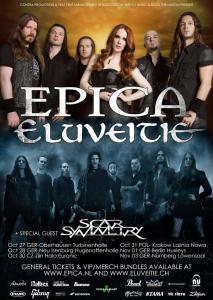 Eluveitie und EPICA 2015 Flyer