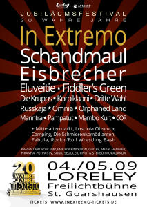 In Extremo 20 Wahre Jahre 2015 Flyer
