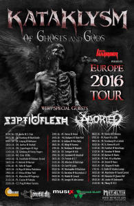 Flyer Kataklysm Of Ghosts and Gods 2016