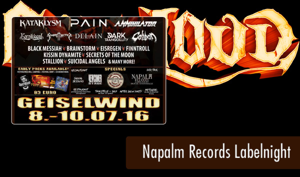 Out and Loud 2016 - Artikel - Napalm Records Labelnight