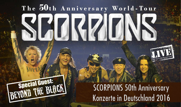 SCORPIONS 50th Anniversary Konzerte in Deutschland 2016
