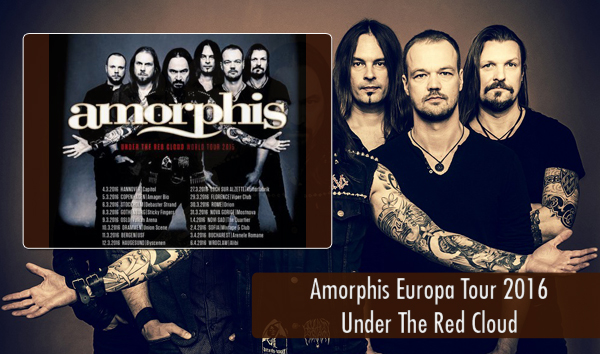 Amorphis Europa Tour 2016 Under The Red Cloud