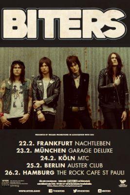 Biters Deutschland Tour 2016 Flyer