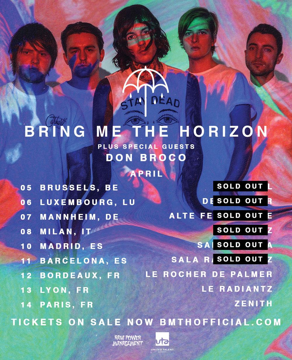 Bring Me The Horizon Mannheim April 2016 Flyer