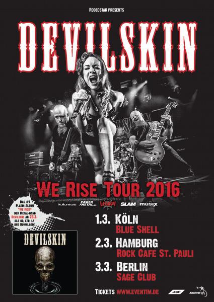 Devilskin Deutschland 2016 Flyer