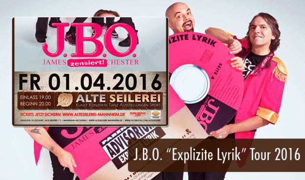 JBO Explizite Lyrik Tour 2016