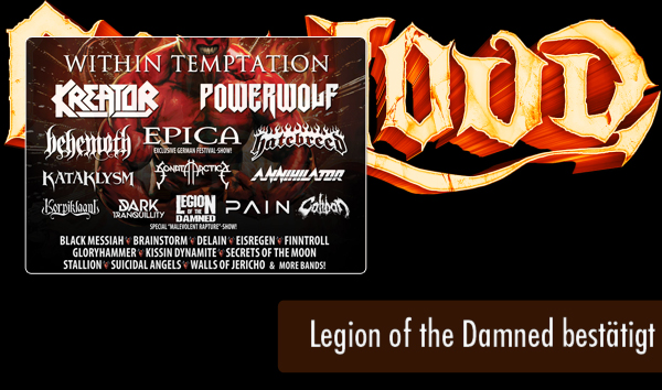 Out and Loud 2016 - Legion of the Damned bestätigt