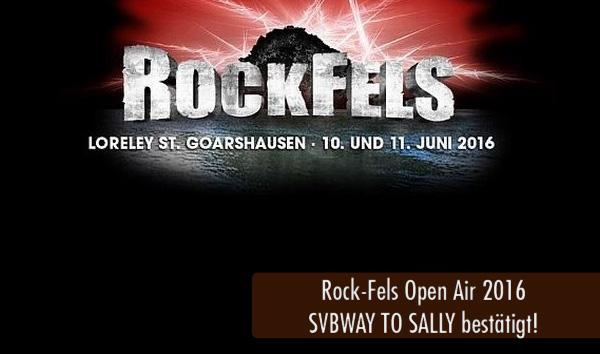 RockFels2016 - Subway to Sally bestätigt