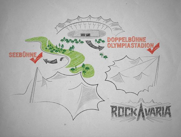 Rockavaria 2016 Bühnenskizze