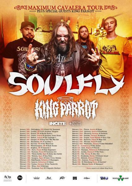 Soulfly Europa 2016 Flyer