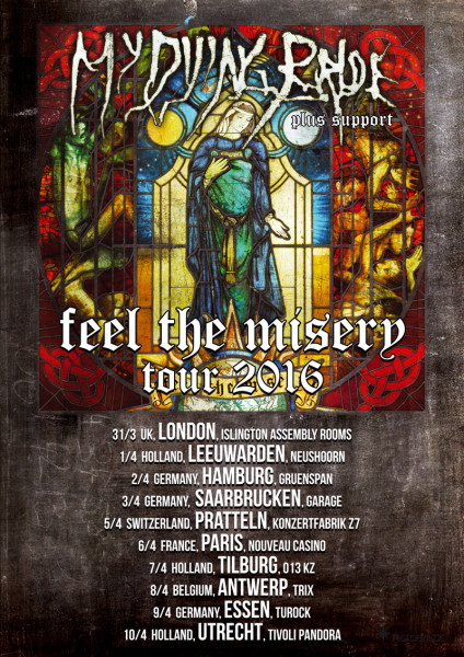 My Dying Bride 2016 Europa Flyer