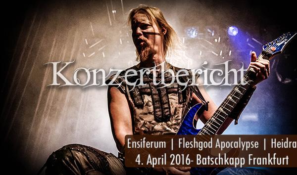 Konzertbericht Ensiferum Batschkapp Frankfurt 2016