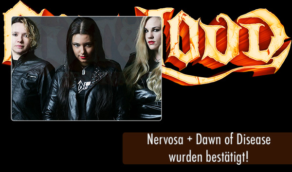 Out and Loud 2016 - Nervosa und Dawn of Disease