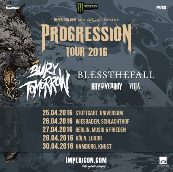 Progression Tour 2016 Flyer