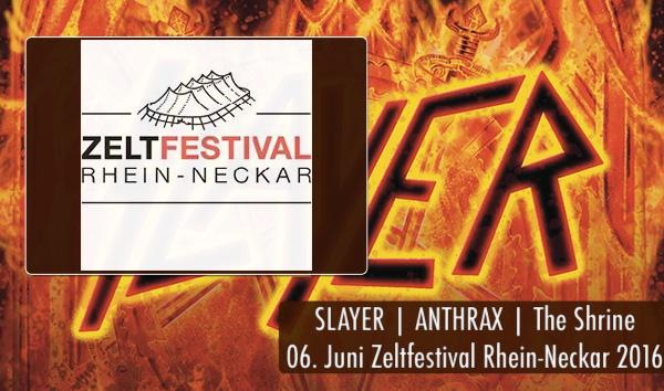 Artikelbild Slayer Zeltfestival Rhein-Neckar 2016