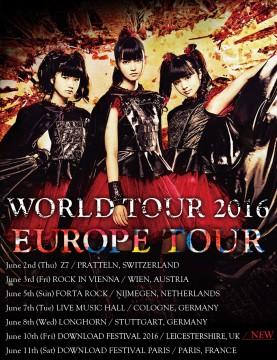 Babymetal Europa Tour 2016 Flyer