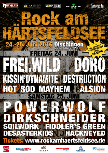 Rock am Härtsfeldsee 2016 Flyer