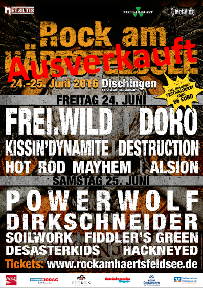 Rock am Härtsfeldsee 2016 Sold Out