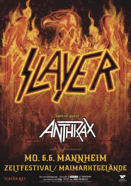 Slayer Mannheim 2016 Flyer
