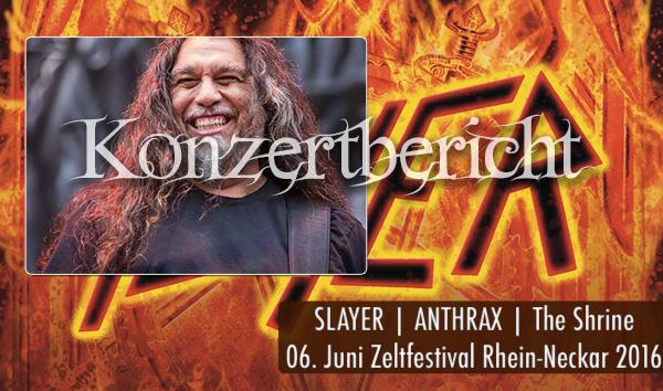 Artikelbild Konzertbericht Slayer Zeltfestival Mannheim 2016
