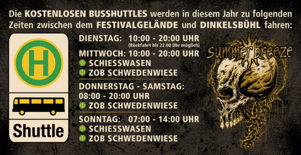Summer Breeze 2016 Busshuttle vom Festivalgelände