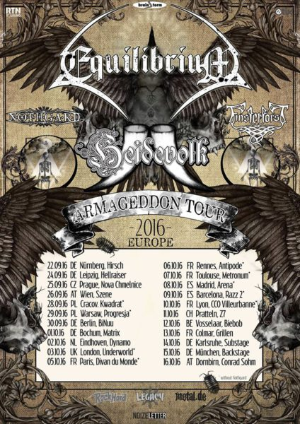 Equilibrium Europa Tour 2016 Flyer