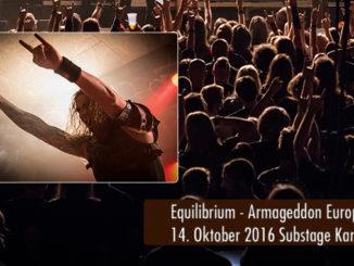 Konzertbericht Equilibrium Armageddon Europatour Substage Karlsruhe