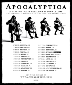 Apocalyptica 20 Years of Plays Metallica By Four Cellos Flyer