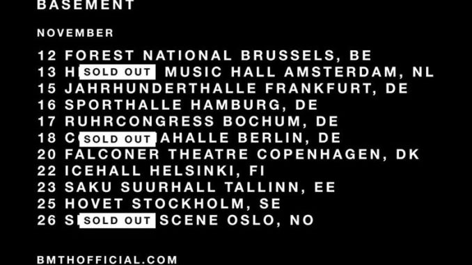 Bring me the Horizon Tour Winter 2016 Flyer