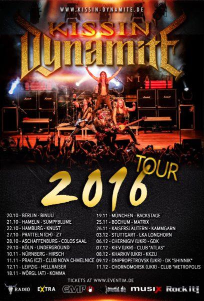 Kissin Dynamite Tour 2016 Flyer