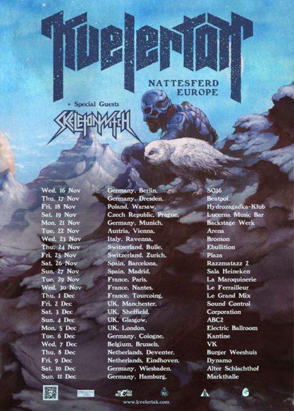 Kvelertak Tour Winter 2016 Flyer