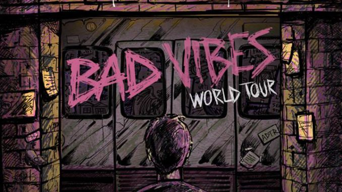 A Day To Remember Bad Vibes Tour Flyer 2017