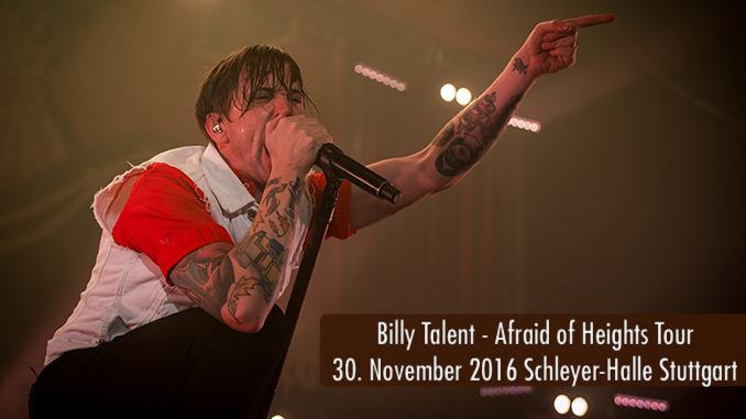 Konzertbericht Billy Talent Schleyer Halle Stuttgart 2016