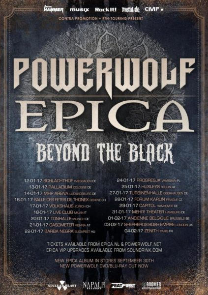 Flyer Powerwolf EPICA Europatour 2017