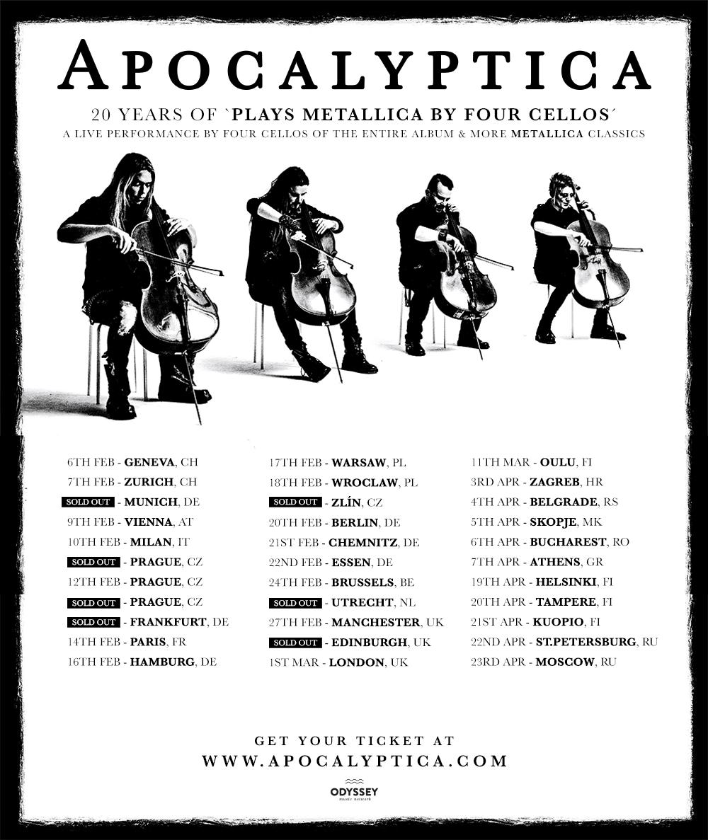 The Cellos Tour Dates