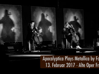 Konzertbericht Apocalyptica Plays Metallica by Four Cellos 2017 Alte Oper Frankfurt