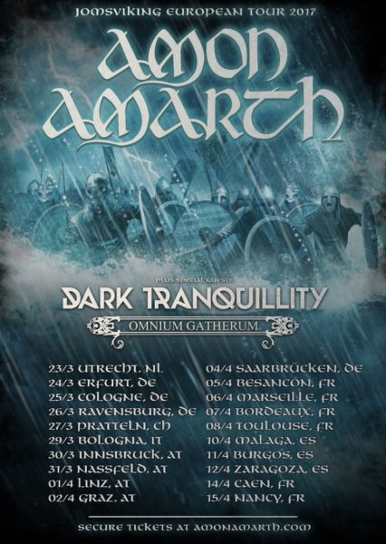 Amon Amarth Jomsviking Europa Tour 2017 Flyer