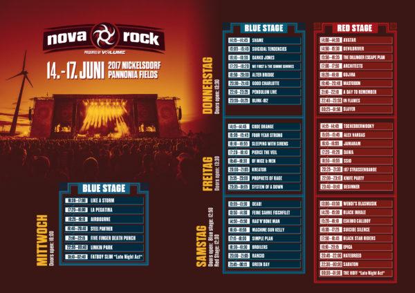 NovaRock2017_Running Order