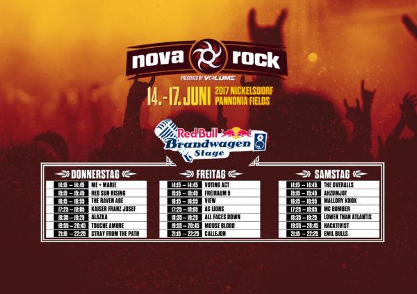 NovaRock2017_Running Order Red Bull
