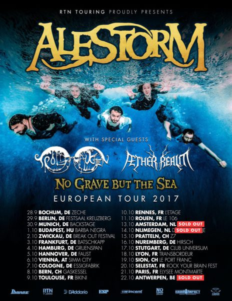 Alestorm Tour 2017 Flyer