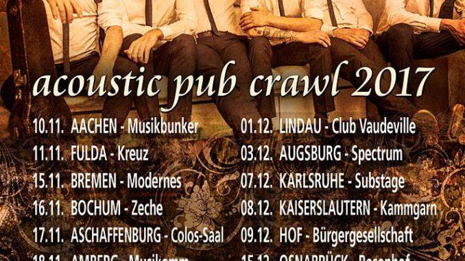 Fiddlers Green Acoustic Pub Crawl 2017 Flyer