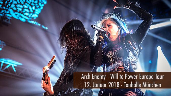 Konzertbericht Arch Enemy Will to Power Europa Tour 2018 Tonhalle München