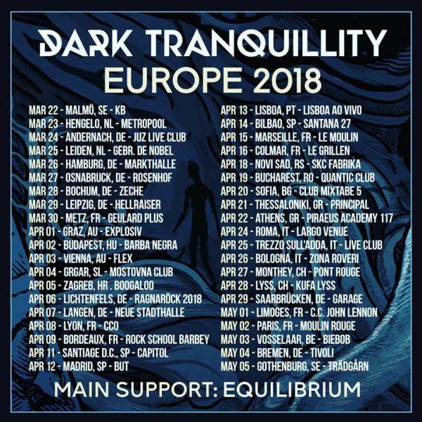 Flyer Dark Tranquillity Europa 2018