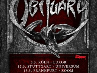Flyer Obituary Europatour 2018 Termine Deutschland