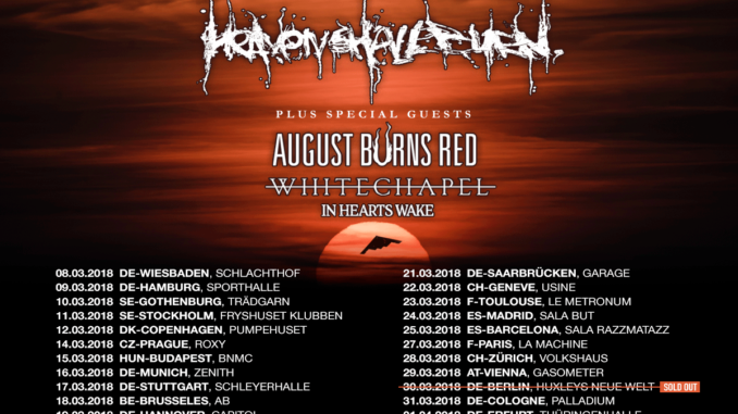 Heaven Shall Burn Tour 2018