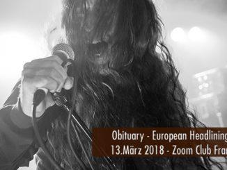 Artikelbild Konzertbericht Obituary Zoom Club Frankfurt 2018