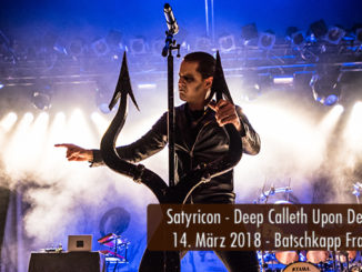 Satyricon Deep Calleth Upon Deep Tour 2018 Batschkapp Frankfurt