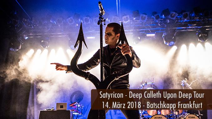 Satyricon Deep Calleth Upon Deep Tour 2018 Batschkapp Frankfurt